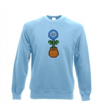 Blue Flower 8-Bit sweatshirt