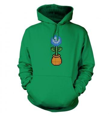 Blue Flower 8-bit hoodie