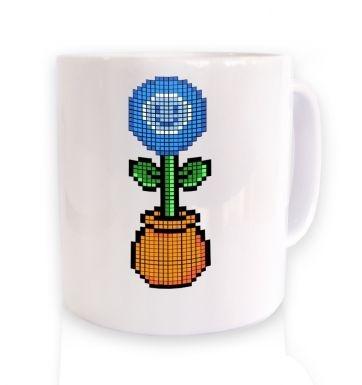Blue Flower 8-Bit mug