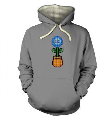 Blue Flower 8-Bit hoodie (premium)