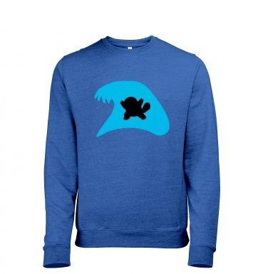 Blue Squirtle Silhouette heather sweatshirt