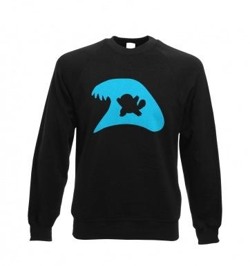 Blue Squirtle Silhouette sweatshirt