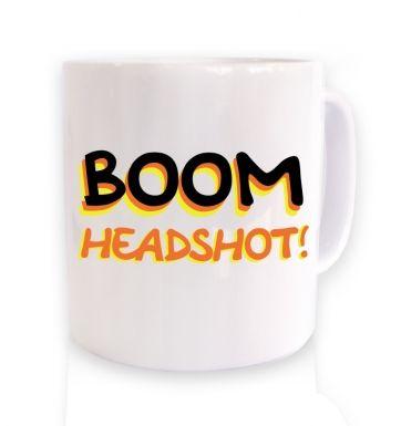 Boom Headshot mug