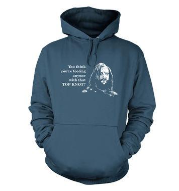 Boycott The Top Knot hoodie