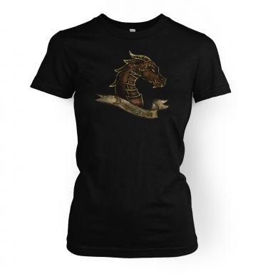 Bronze Dragonslayer   womens t-shirt