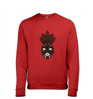 Brown Tribal Mask heather sweatshirt