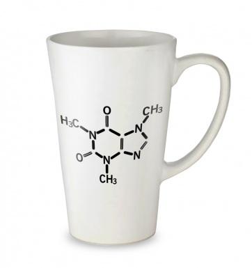 Caffeine Molecule tall latte mug