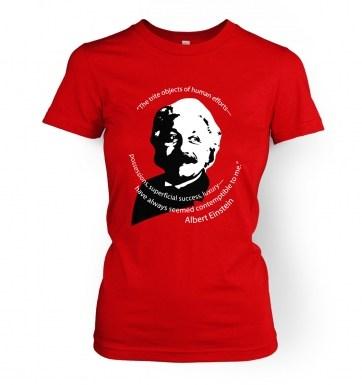Capitalism Quote Einstein women's t-shirt