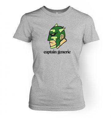 Captain Generic  womens t-shirt