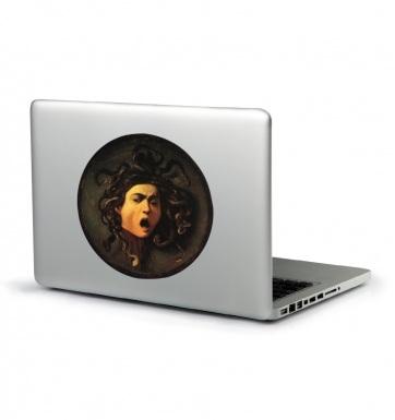 Caravaggio Medusa laptop sticker