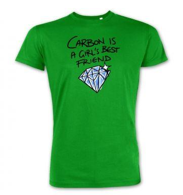 Carbon Is A Girls Best Friend  premium t-shirt