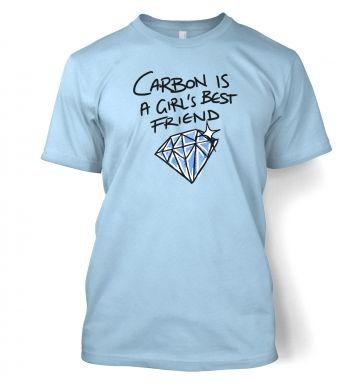 Carbon Is A Girls Best Friend  t-shirt