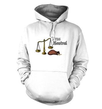 Cartoon Alignment True Neutral hoodie