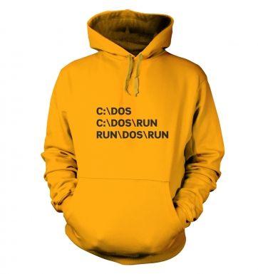 C DOS Run hoodie