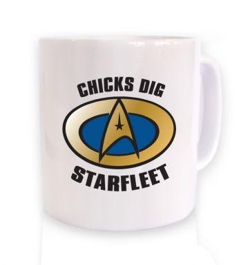 Chicks Dig Starfleet  mug