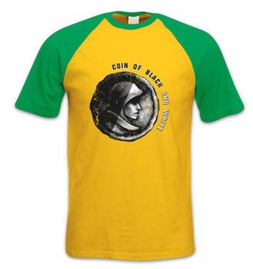 Coin Of Black And White short-sleeved baseball t-shirt