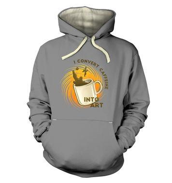 Convert Caffeine Into Art premium hoodie