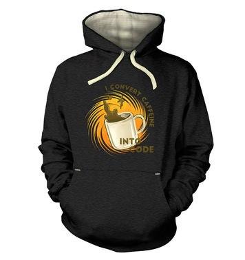 Convert Caffeine Into Code hoodie (premium) DUPLICATE