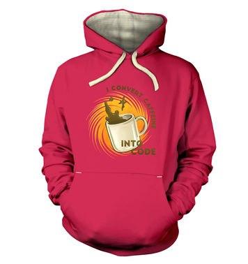 Convert Caffeine Into Code premium hoodie