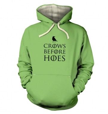 Crows Before Hoes hoodie (premium)