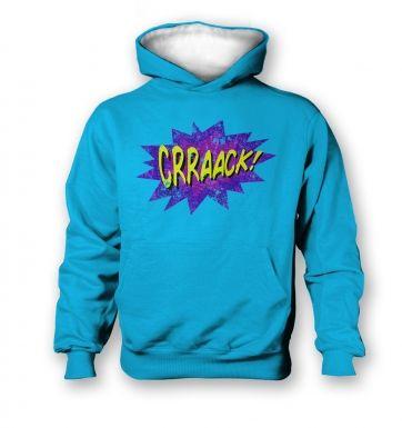 Crraaack   kids hoodie (contrast)