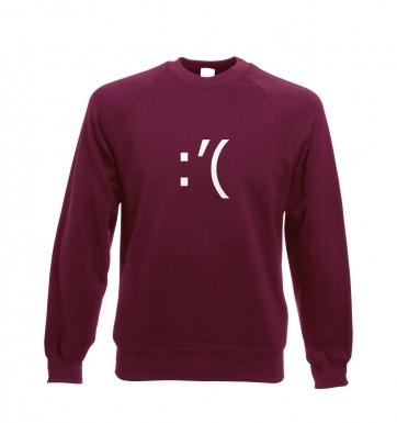 Crying Emoticon sweatshirt