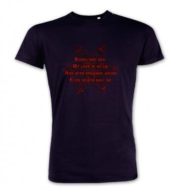 Cthulhu Strange Aeons Valentine Poem premium t-shirt