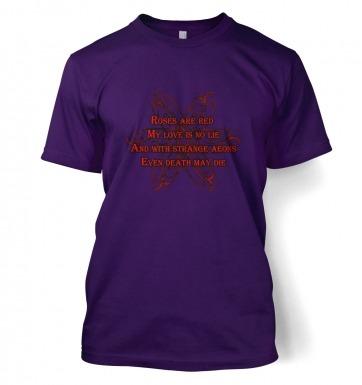 Cthulhu Strange Aeons Valentine Poem t-shirt