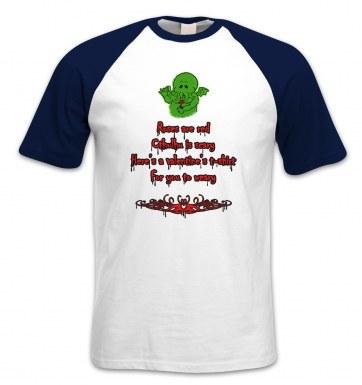Cthulhu Valentine short-sleeved baseball t-shirt