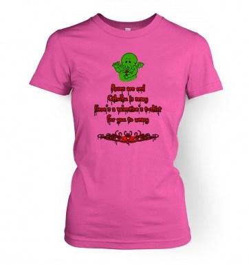 Cthulhu Valentine women's t-shirt