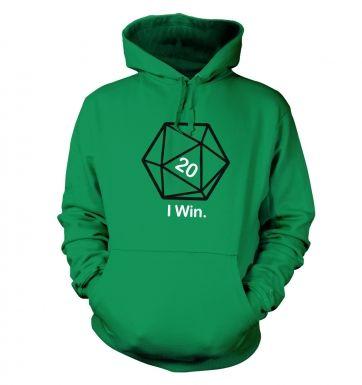 D20 I Win hoodie