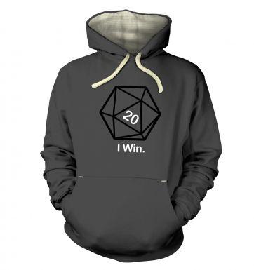 D20 I Win hoodie (premium)