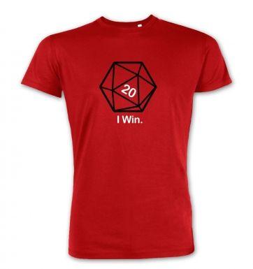 D20 I Win premium t-shirt