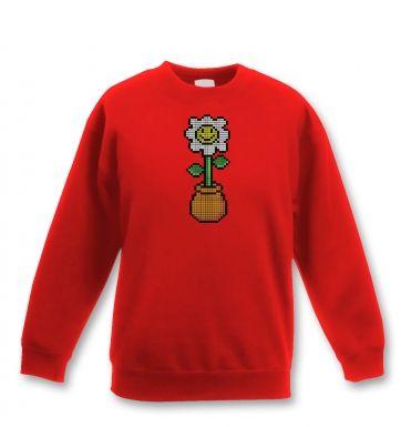 8-Bit Daisy kids' sweatshirt