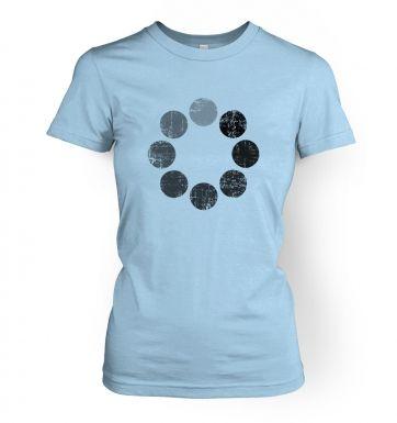 Distressed Loading Symbol womens t-shirt