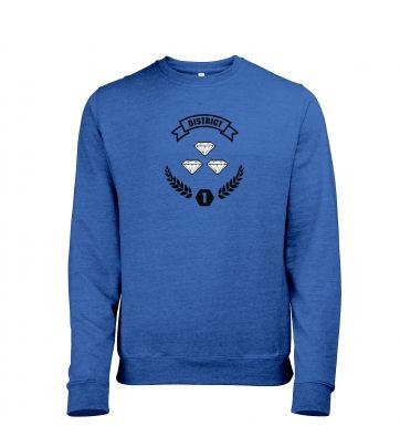 District 1 heather sweatshirt