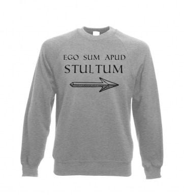 Ego Sum Apud Stultum sweatshirt