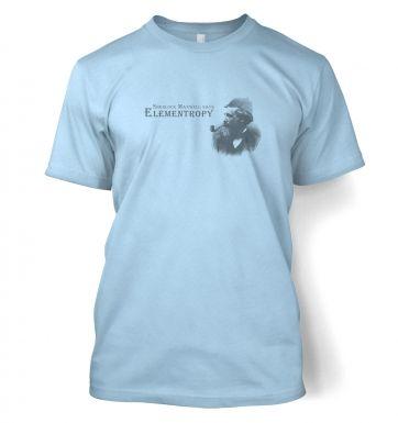 Elementropy Sherlock Holmes James Clerk Maxwell t-shirt