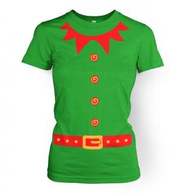 Elf   (red detail)womens t-shirt