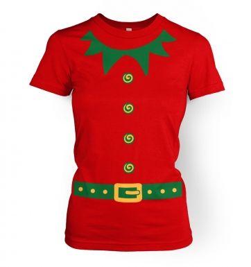Elf   (green detail)womens t-shirt