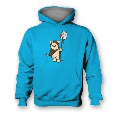 Evil Ewok  kids hoodie (contrast)