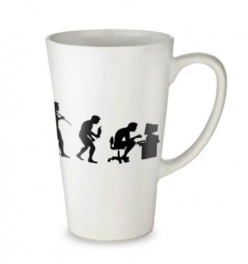 Evolution Of A Geeky Man tall latte mug