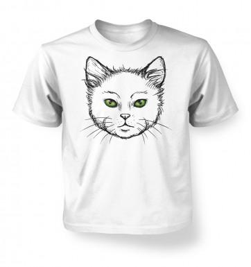 Eyes Of The Cat kids' t-shirt (white)