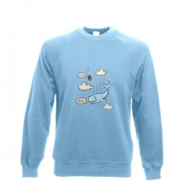 Falling Whale sweatshirt