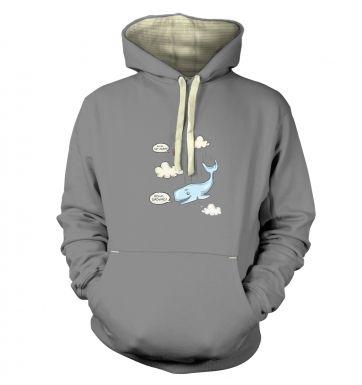 Falling Whale  hoodie (premium)