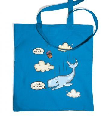 Falling Whale tote bag