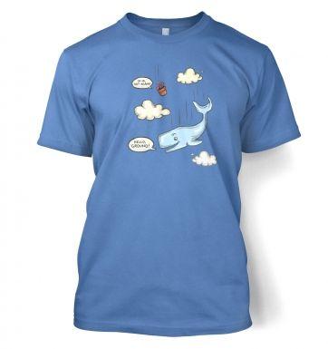 Falling Whale  t-shirt