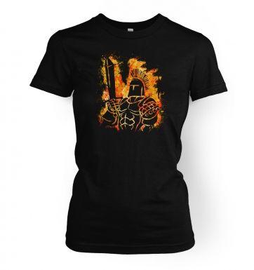 Fantasy RPG Fiery Knight women's t-shirt