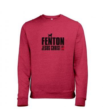 Fenton Dog Chasing Deer Jesus Christ  t-shirt