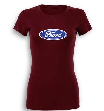 Fnord (Logo) premium women's t-shirt